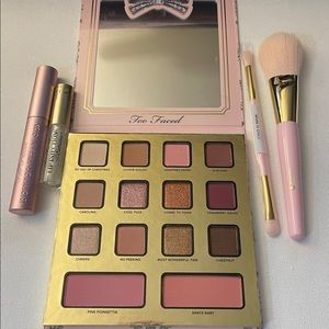 Too Faced Mascara Eye Shadow Blush Brushes Kit